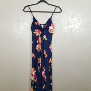 NWT Navy Spaghetti Strap Maternity Dress